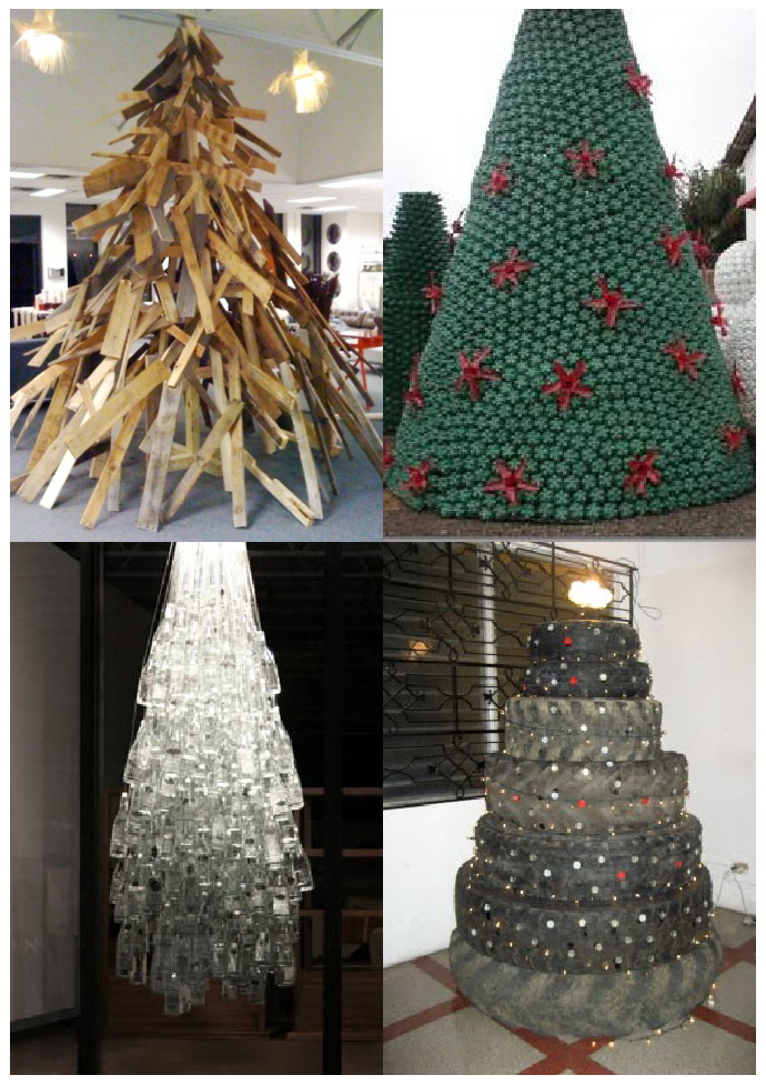 How to make christmas tree from tires pictures photos and images for - 193 Rboles De Navidad Reciclados